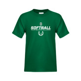 Youth Dark Green T Shirt-Dartmouth Softball Stencil