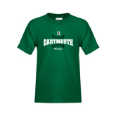 Youth Dark Green T Shirt-Dartmouth Softball Seams