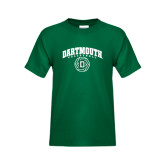 Youth Dark Green T Shirt-Dartmouth Volleyball Abstract Ball