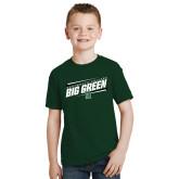 Youth Dark Green T Shirt-Big Green