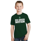 Youth Dark Green T Shirt-Big Green Nation