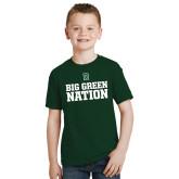 Youth Dark Green T Shirt-Big Green Nation