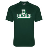 Under Armour Dark Green Tech Tee-D Dartmouth Stacked