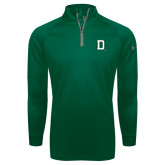 Under Armour Dark Green Tech 1/4 Zip Performance Shirt-Dartmouth D