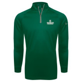Under Armour Dark Green Tech 1/4 Zip Performance Shirt-D Dartmouth Stacked