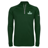 Under Armour Dark Green Tech 1/4 Zip Performance Shirt-Dartmouth
