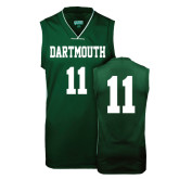 Replica Dark Green Adult Basketball Jersey-#11