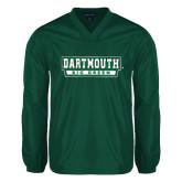 V Neck Dark Green Raglan Windshirt-Dartmouth Big Green