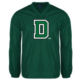 V Neck Dark Green Raglan Windshirt-Primary Mark