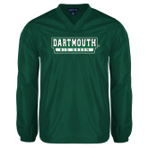 V Neck Dark Green Raglan Windshirt-Dartmouth Big Green
