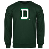 Dark Green Fleece Crew-Dartmouth D