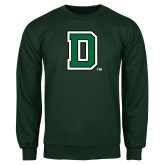 Dark Green Fleece Crew-Primary Mark