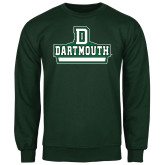 Dark Green Fleece Crew-Dartmouth