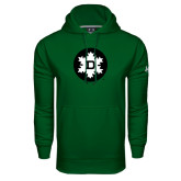 Under Armour Dark Green Performance Sweats Team Hood-Dartmouth Ski