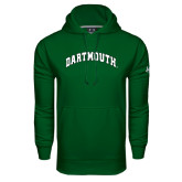 Under Armour Dark Green Performance Sweats Team Hood-Arched Dartmouth