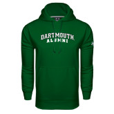 Under Armour Dark Green Performance Sweats Team Hood-Alumni