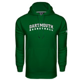 Under Armour Dark Green Performance Sweats Team Hood-Basketball