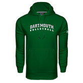 Under Armour Dark Green Performance Sweats Team Hood-Volleyball