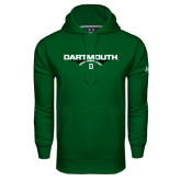 Under Armour Dark Green Performance Sweats Team Hood-Dartmouth Football Flat