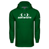 Under Armour Dark Green Performance Sweats Team Hood-Dartmouth Football Stacked