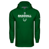 Under Armour Dark Green Performance Sweats Team Hood-Dartmouth Baseball Stencil