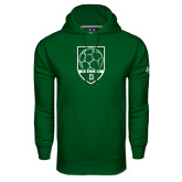 Under Armour Dark Green Performance Sweats Team Hood-Dartmouth Soccer Shield