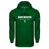 Under Armour Dark Green Performance Sweats Team Hood-Dartmouth Soccer Stacked