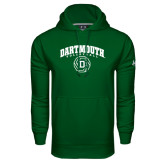 Under Armour Dark Green Performance Sweats Team Hood-Dartmouth Volleyball Abstract Ball