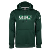 Under Armour Dark Green Performance Sweats Team Hoodie-Dartmouth Big Green