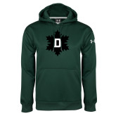 Under Armour Dark Green Performance Sweats Team Hoodie-D Snowflake