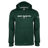 Under Armour Dark Green Performance Sweats Team Hoodie-Football