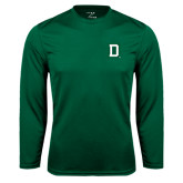 Syntrel Performance Dark Green Longsleeve Shirt-Dartmouth D