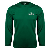 Syntrel Performance Dark Green Longsleeve Shirt-D Dartmouth Stacked
