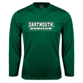 Syntrel Performance Dark Green Longsleeve Shirt-Dartmouth Big Green