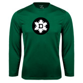 Syntrel Performance Dark Green Longsleeve Shirt-Dartmouth Ski
