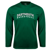 Syntrel Performance Dark Green Longsleeve Shirt-Basketball