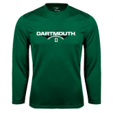 Syntrel Performance Dark Green Longsleeve Shirt-Dartmouth Football Flat