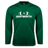 Syntrel Performance Dark Green Longsleeve Shirt-Dartmouth Football Stacked
