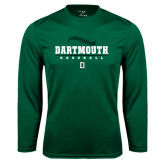 Syntrel Performance Dark Green Longsleeve Shirt-Dartmouth Baseball Stacked