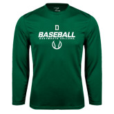 Syntrel Performance Dark Green Longsleeve Shirt-Dartmouth Baseball Stencil