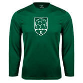Syntrel Performance Dark Green Longsleeve Shirt-Dartmouth Soccer Shield