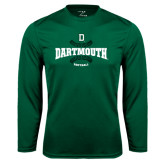 Syntrel Performance Dark Green Longsleeve Shirt-Dartmouth Softball Seams