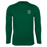 Syntrel Performance Dark Green Longsleeve Shirt-Primary Mark