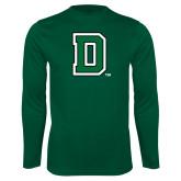 Syntrel Performance Dark Green Longsleeve Shirt-Primary Mark