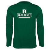 Syntrel Performance Dark Green Longsleeve Shirt-Dartmouth