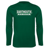 Performance Dark Green Longsleeve Shirt-Dartmouth Big Green