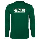 Syntrel Performance Dark Green Longsleeve Shirt-Dartmouth Big Green