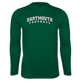 Performance Dark Green Longsleeve Shirt-Football
