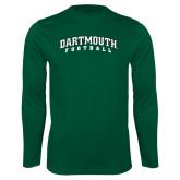 Syntrel Performance Dark Green Longsleeve Shirt-Football