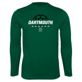 Performance Dark Green Longsleeve Shirt-Soccer